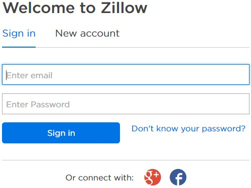 Log Into My Zillow Account