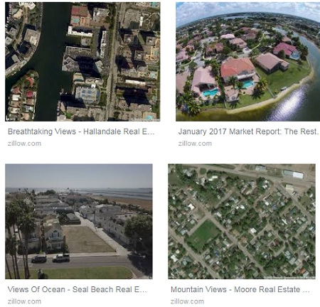 Zillow Aerial Views of Homes