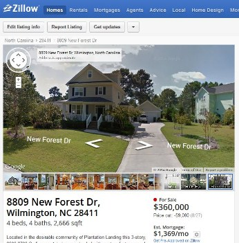 Zillow Street Views of Addresses