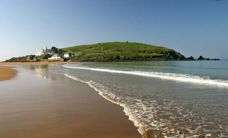 Bigbury-on-sea Burgh Island from Bantham