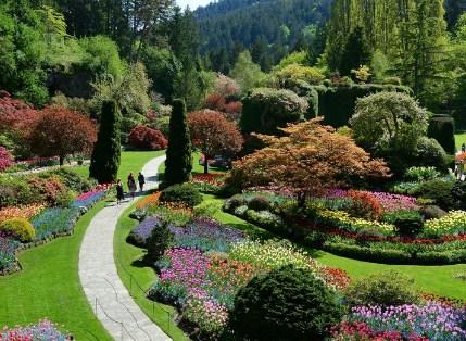 Butchart Gardens Canada Bloementuinen
