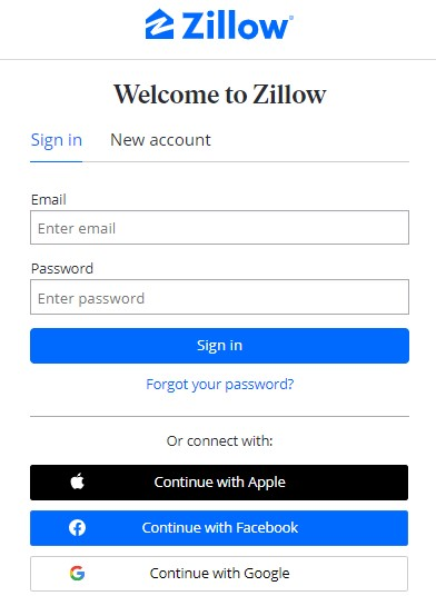 How to Take Me to My Account on Zillow
